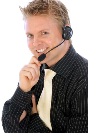 a Portrait of a young attractive businessman photo