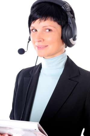 a portrait of a business woman photo
