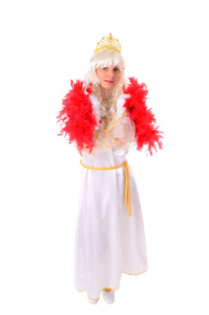Portrait - Young beautiful woman in carnival costume photo