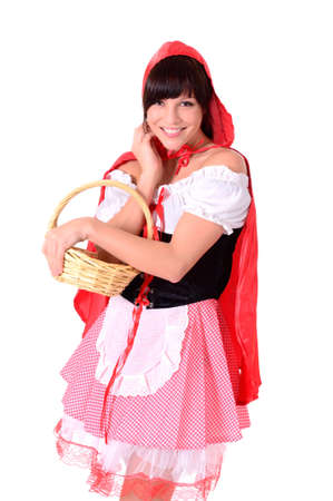 portrait of a young girl in red - Red Riding Hood Stock Photo - 9918414