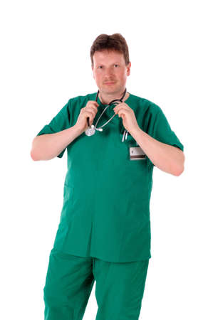 a portrait of a first aid man - medic, doctor Stock Photo - 9918691