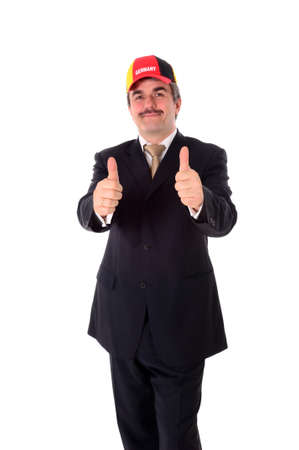 Portrait of a happy smiling business man with a baseball cap Stock Photo - 12024203