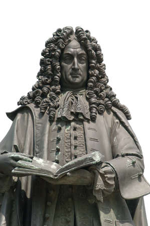 Gottfried Wilhelm Leibniz monument in Leipzig, Saxony, Germany