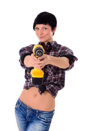 Do It Yourself - Young attractive woman as a craftsman Stock Photo - 12552321