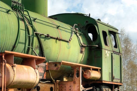 Old switch engine in the former brown coal mining Stock Photo - 13099147