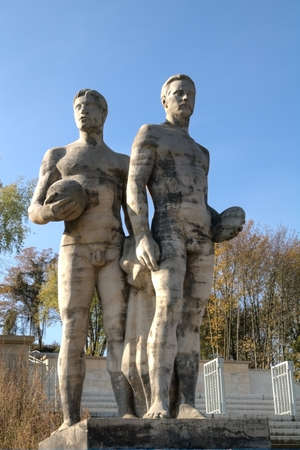 Athletes monument on the Leipzig Sports Forum photo