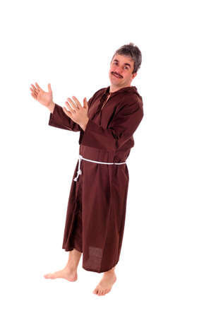 Portrait of a Christian monk in brown habit Stock Photo - 17065017