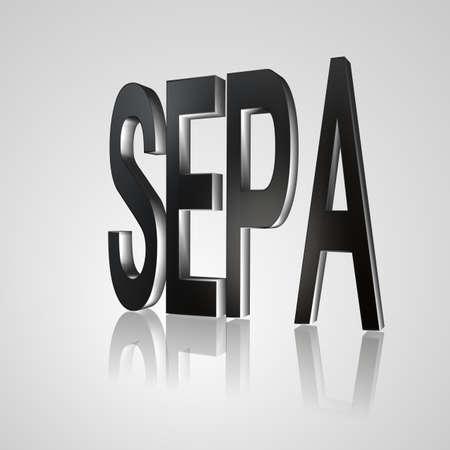 euro area: SEPA, Single Euro Payments Area Stock Photo