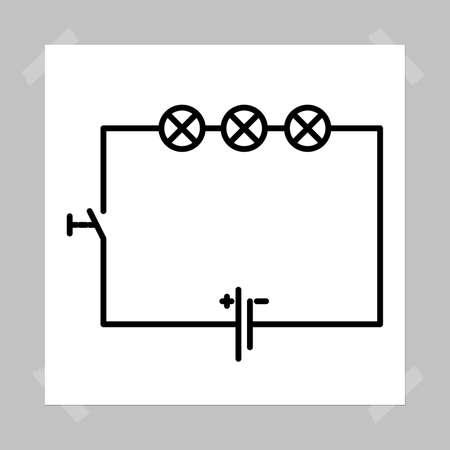circuito electrico: representaci�n gr�fica de un circuito el�ctrico