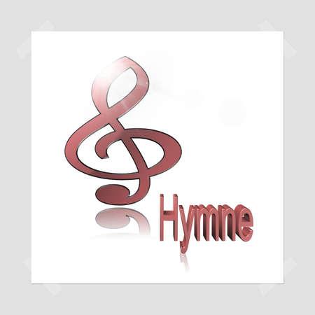 hymn: Music 3d illustration - hymn Stock Photo