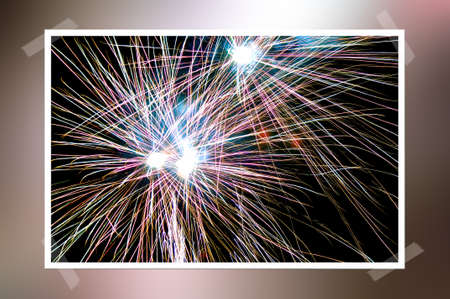 foursquare: a fireworks in the New Year's Eve Stock Photo