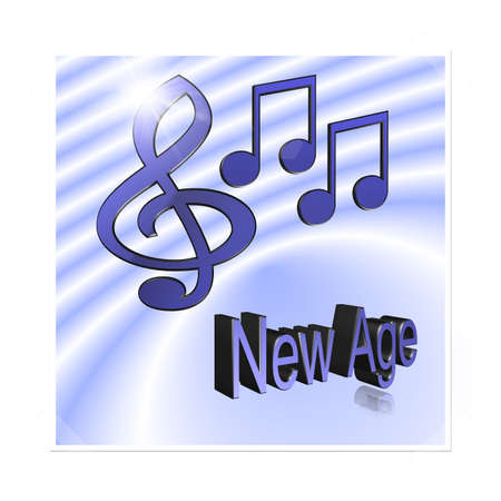 new age: Music 3d illustration - New Age
