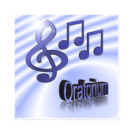 oratorio: Musica 3d illustration - oratorio