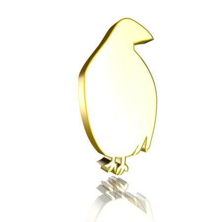 perdrix: Perdrix 3D en or
