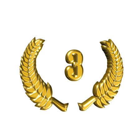 A laurel wreath for the anniversary with number Stock Photo