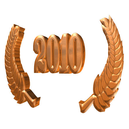 3D Illustration: A laurel wreath for the anniversary with number Stock fotó