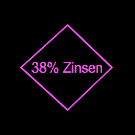 3D Illustrations: Icon image for percent or percent symbol (%) and interest
