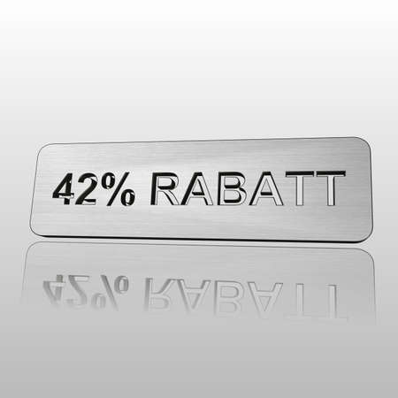 3D Illustrations: percent and percentage signs with reflection Stock Photo