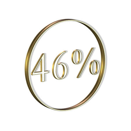 3D Illustrations: Icon for percent or percent sign (%) Stock Photo