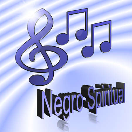 Negro Spiritual Music - 3D illustration, 3D Rendering: symbol image for music, entertainment and culture