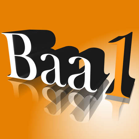 3D Illustration, 3D Rendering: rating or rating code for assessing the creditworthiness of a debtor; Code Baa1
