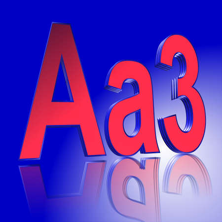 3D Illustration, 3D Rendering: rating or rating code for assessing the creditworthiness of a debtor; Code Aa3