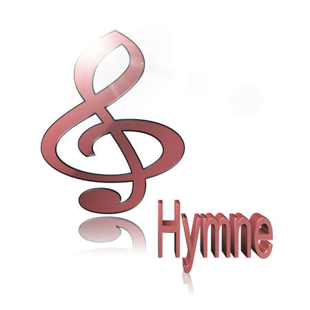 Hymn Music - 3D illustration, 3D Rendering: symbol image for music, entertainment and culture