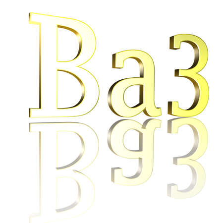 3D Illustration, 3D Rendering: rating or rating code for assessing the creditworthiness of a debtor; Code Ba3 Stock Photo