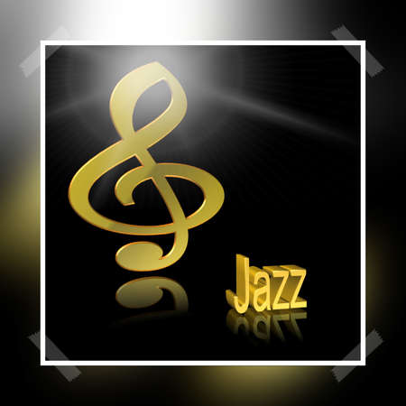 Jazz Music - 3D illustration, 3D Rendering: symbol image for music, entertainment and culture