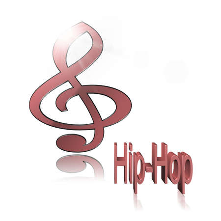Hip-Hop Music - 3D illustration, 3D Rendering: symbol image for music, entertainment and culture