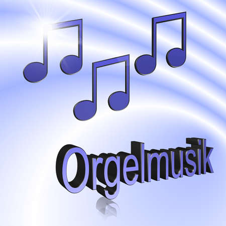Organ Music - 3D illustration, 3D Rendering: symbol image for music, entertainment and culture Reklamní fotografie