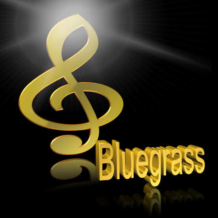 Bluegrass - 3D illustration, 3D Rendering: symbol image for music, entertainment and culture