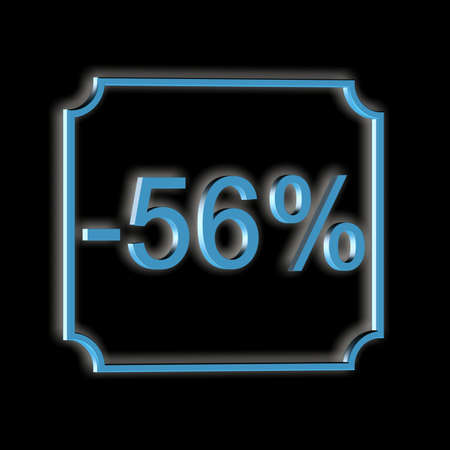3D illustration, 3D Rendering: 56%, symbol image for investments, interest, discount, profit