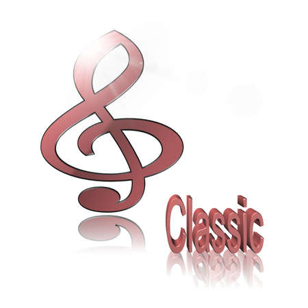 Classic Music - 3D illustration, 3D Rendering: symbol image for music, entertainment and culture