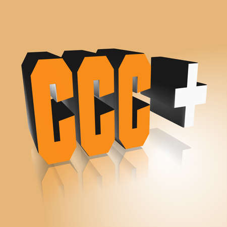 3D Illustration, 3D Rendering: rating or rating code for assessing the creditworthiness of a debtor; Code CCC+