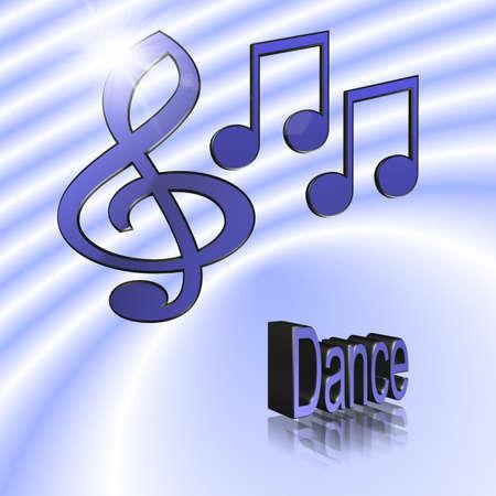 Dance Music - 3D illustration, 3D Rendering: symbol image for music, entertainment and culture Reklamní fotografie