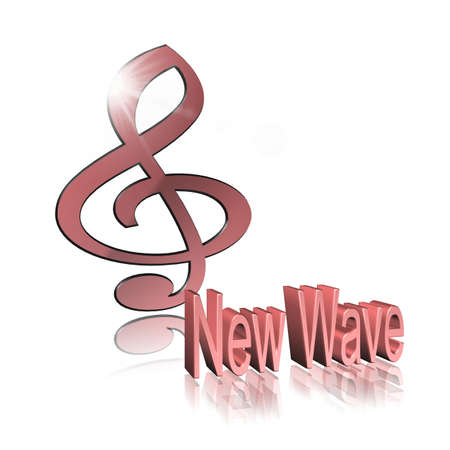 New Wave Music - 3D illustration, 3D Rendering: symbol image for music, entertainment and culture