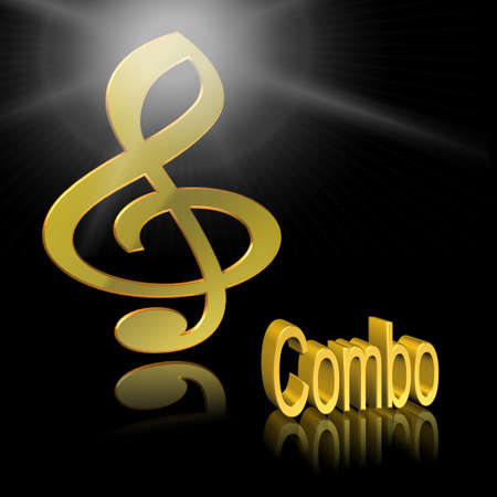 Combo Music - 3D illustration, 3D Rendering: symbol image for music, entertainment and culture Reklamní fotografie