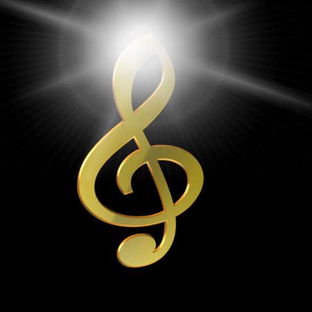 3D illustration, 3D Rendering: symbol image for music, entertainment and culture Reklamní fotografie