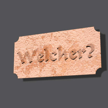 3D Illustration, 3D Rendering: Question or question word Which one Imagens