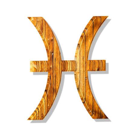 3D Illustration, 3D Rendering: Symbolic image of the zodiac sign Pisces Stock fotó