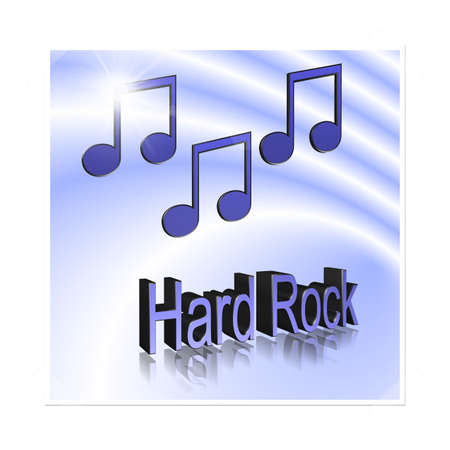 Hard Rock Music - 3D illustration, 3D Rendering: symbol image for music, entertainment and culture