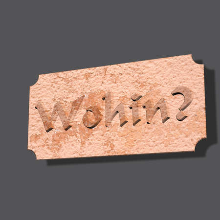 3D Illustration, 3D Rendering: Question or question word Whereto