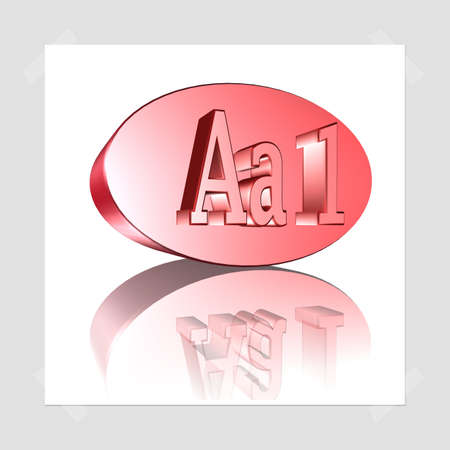 3D Illustration, 3D Rendering: rating or rating code for assessing the creditworthiness of a debtor; Code Aa1