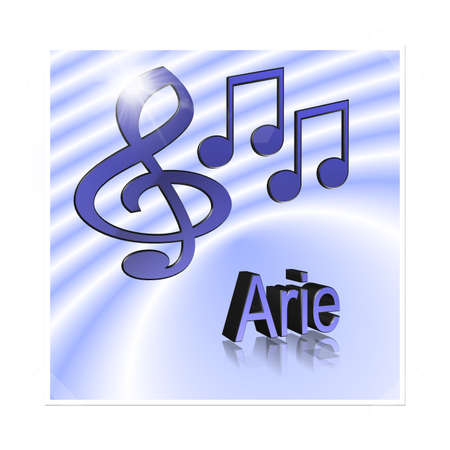 Aria Music - 3D illustration, 3D Rendering: symbol image for music, entertainment and culture
