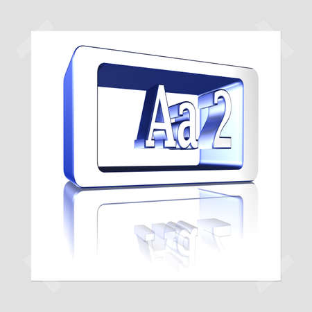 3D Illustration, 3D Rendering: rating or rating code for assessing the creditworthiness of a debtor; Code Aa2