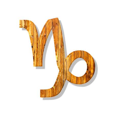 3D Illustration, 3D Rendering: Symbolic image of the zodiac sign Capricorn