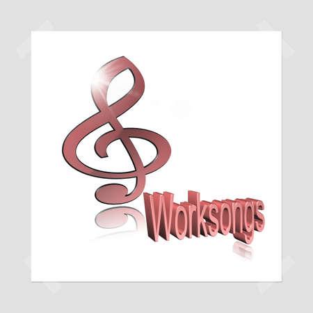 Worksong - 3D illustration, 3D Rendering: symbol image for music, entertainment and culture Reklamní fotografie