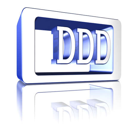 3D Illustration, 3D Rendering: rating or rating code for assessing the creditworthiness of a debtor; Code DDD Stock Illustration - 125303899