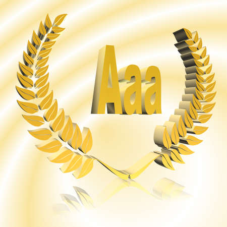 3D Illustration, 3D Rendering: rating or rating code for assessing the creditworthiness of a debtor; Code AAA